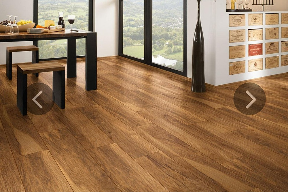 Warm wood flooring