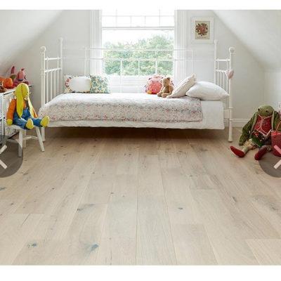Engineered European Rustic Oak Flooring 14mm x 180mm Alabaster Lacquered