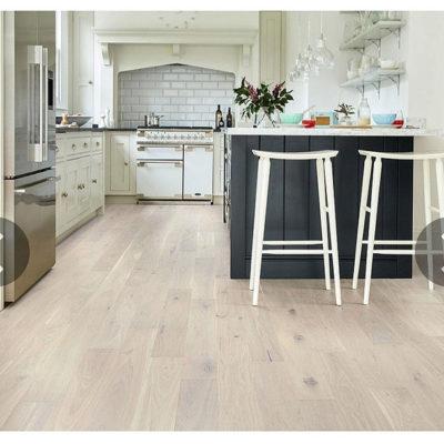 Engineered European Rustic Oak Flooring 14mm x 180mm Cappuccino Grande Lacquered