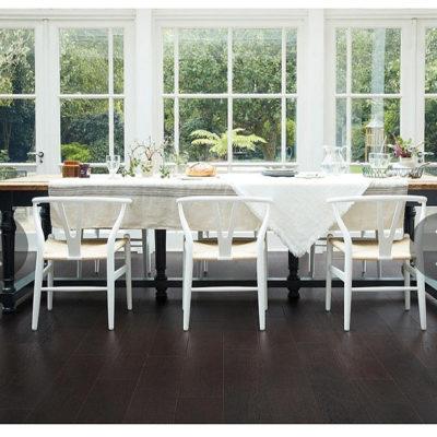 Engineered European Rustic Oak Flooring 14mm x 180mm Liquorice Lacquered