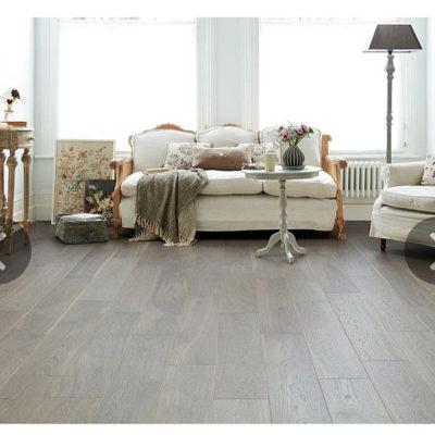 Engineered European Rustic Oak Flooring 14mm x 180mm Paloma Grey Lacquered