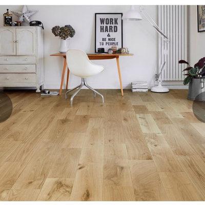 Engineered Rustic Oak Flooring 14mmx150mm Natural Brushed UV Oiled