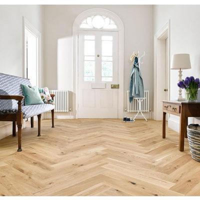 Herringbone Engineered European Rustic Oak Flooring 14mm x 130mm Panettone Oiled