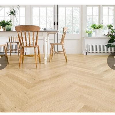 Herringbone Engineered European Select Oak Flooring 14mm x 130mm Grissini Lacquer